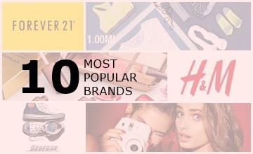 潮青年必買品牌,H&M才排第七?時尚美妝品牌TOP10
