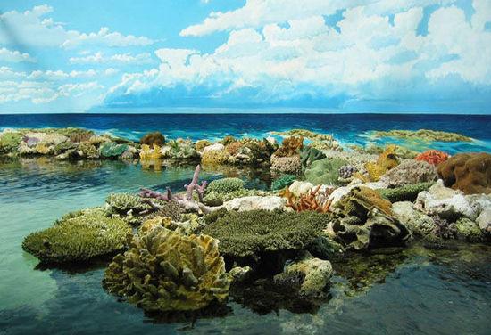 這裡景色迷人、險峻莫測, 水流異常複雜, 生存著400餘種不同類型的珊瑚礁, 其中有世界上最大的珊瑚礁。