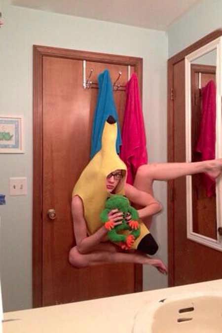 香蕉蜘蛛人 只想知道他是怎麼拍的...