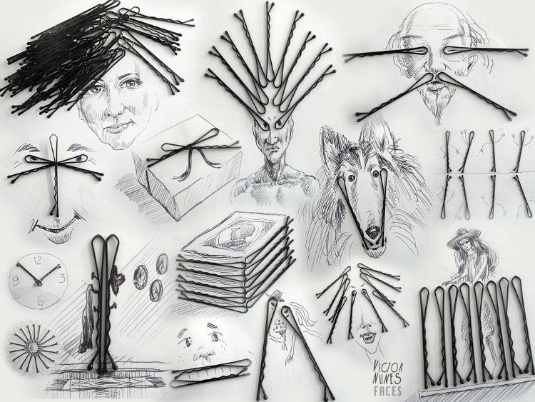 用日常生活物品作畫 想像力不只停留在2D~ 真的超強的啊!