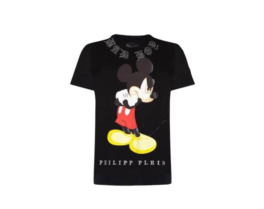 Peilipp Plein的設計裡,難得有可愛的卡通出現,生氣的米奇圖案,整個T-shirt看起來更有個性!喜歡米奇的朋友絕對不會想要錯過的經典~
