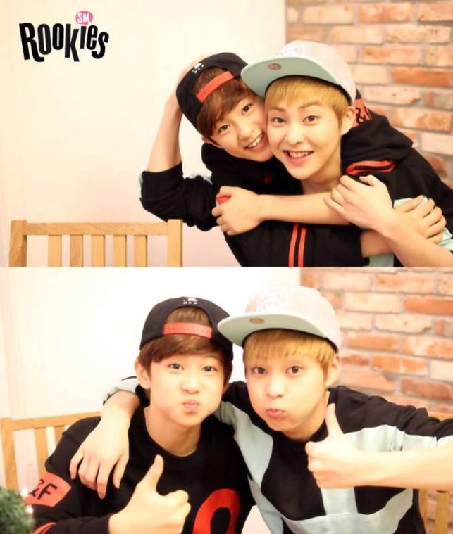 哇!跟我們的童顏男神,號稱只有26個月大的EXO成員XIUMIN在一起時,兩人有10歲差異耶~你們看得出來嗎?XDDDD