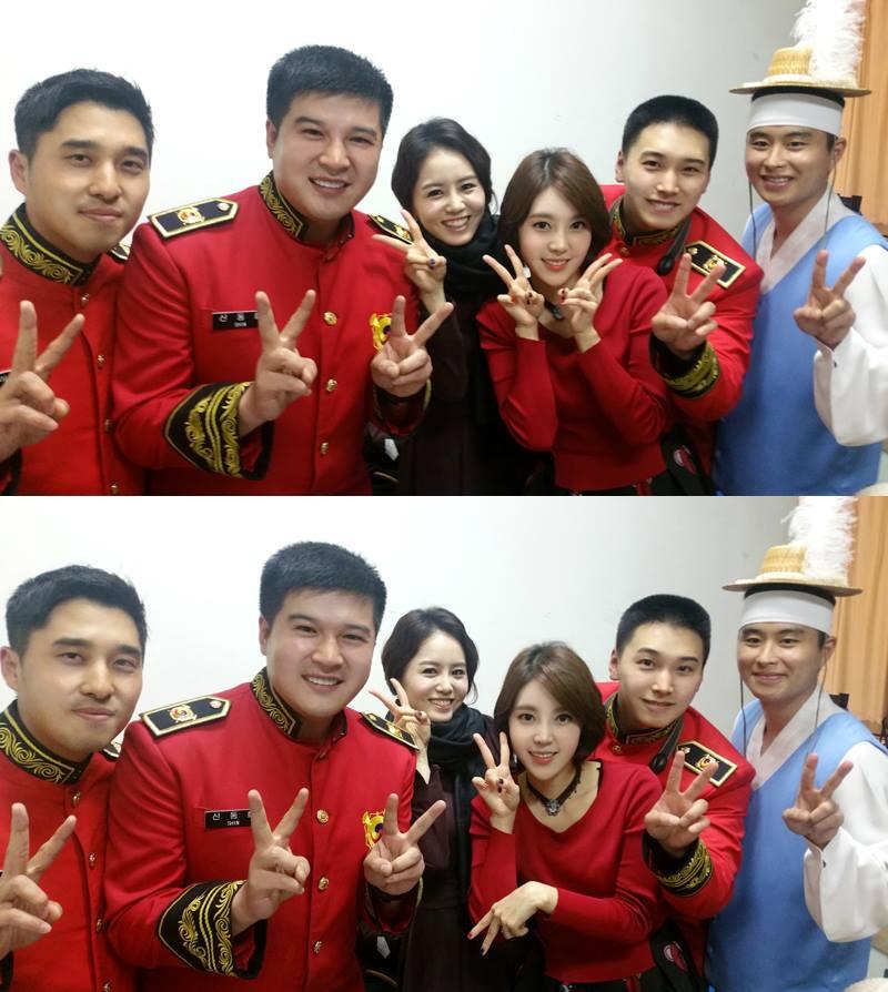 在今年初入伍的 Super Junior 成員神童和晟敏,大家有認出來是哪兩位嗎?