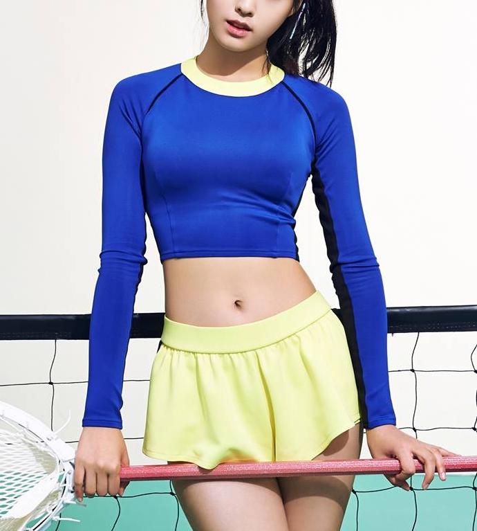 最後一個提示就是... 這位女孩的身材非常好 >////<