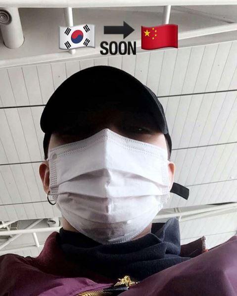不久前才剛從中國飛回首爾,不到一星期又上傳了一張要再度飛往中國的照片,就知道世界級的天團忙碌的程度真的不是一般人能想像的。