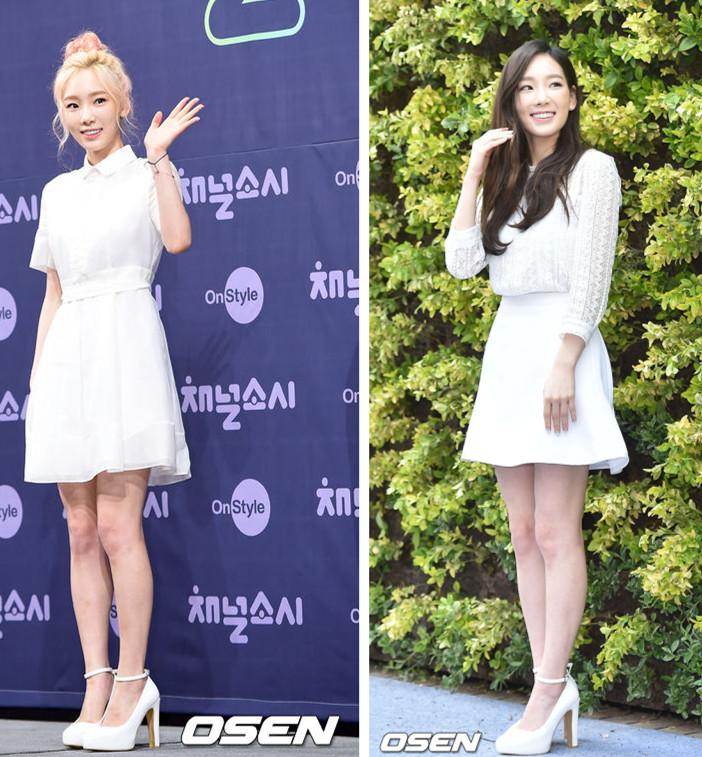 說到全白LOOK,摩登少女首先想到的就是「 宅精靈」太妍~不管是純白的小洋裝,還是蕾絲+A型裙,加上今年開始在韓國大熱的綁帶鞋,真的好像是落入凡間的天使啊!(小隻女一定要筆記下來這種穿搭)