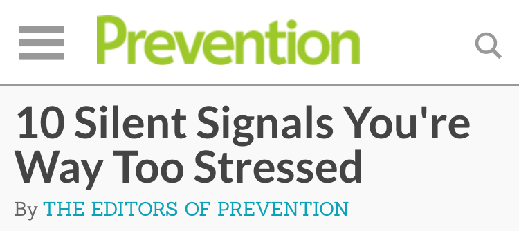 根據美國健康信息網站prevention.com刊載的文章表明,一個人如果壓力過大,他的身體會給出相應的信號...那麼,我們接下來就看一下有哪些信號吧!