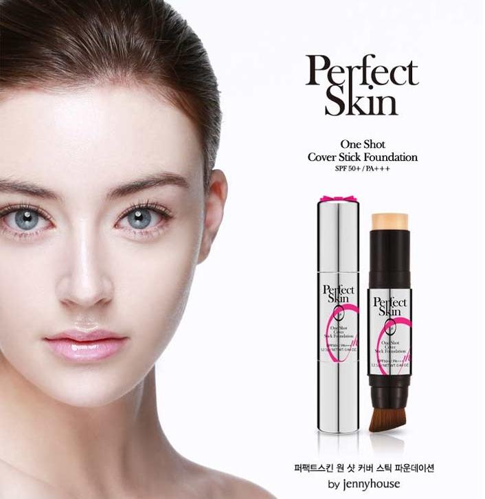 ▶Jenny House Perfect Skin保濕精華粉底條 Jenny House是韓國知名造型沙龍店,像是孫藝珍、朴信惠、宋智孝、韓智敏等明星都常去 這款粉底條,就是由店內70位美容、化妝師所研發