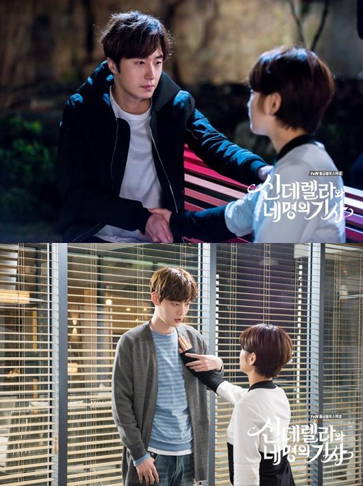 ✿TOP 9- tvN《灰姑娘與四騎士》 話題佔有率:3.51% ➔下降1個名次 ※講述一位人生有如灰姑娘般坎坷的女高中生-尹夏媛(朴素淡飾),意外進到了集團會長的別墅生活,與會長三位性格不同的孫子,及一名警衛員展開了戲劇性同居生活的故事。