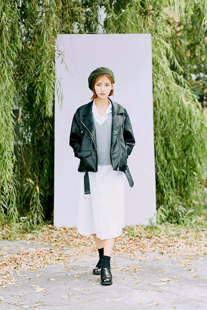 學會以上韓妞最常見的三種皮衣穿搭,讓你隨時都有街拍潮人的即視感。