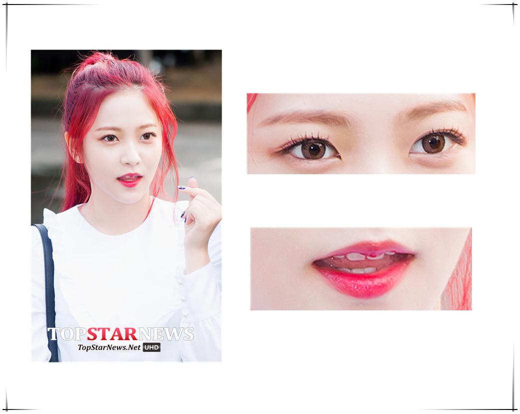 這種高飽和度的唇釉顏色真的很適合皮膚白白的女生,眼妝也只需要一個假睫毛就幾乎搞定了。
