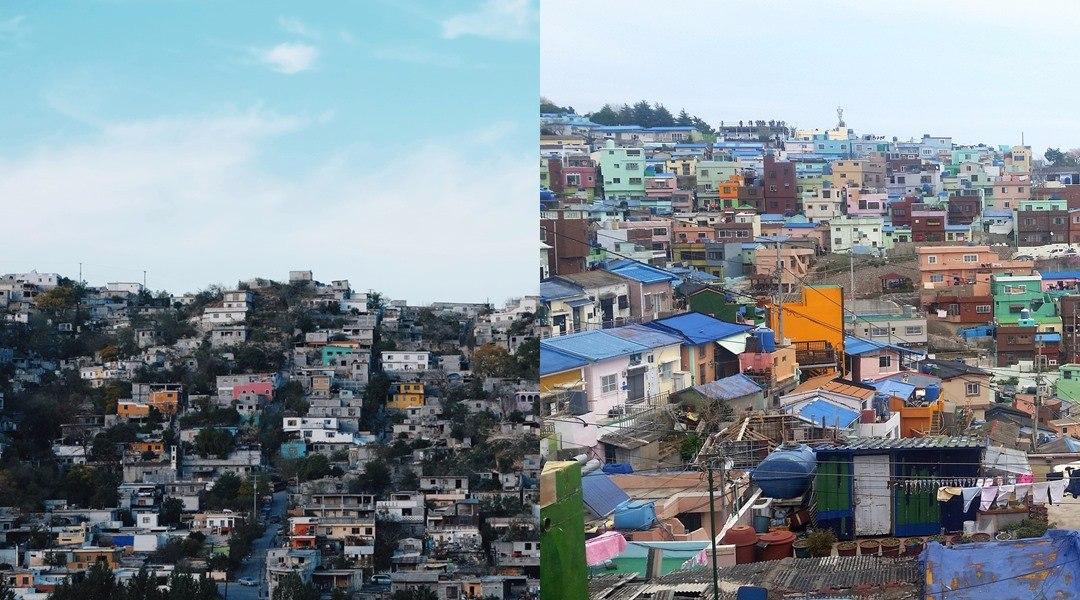 像是韓國釜山的甘川洞、歐洲的五漁村等等