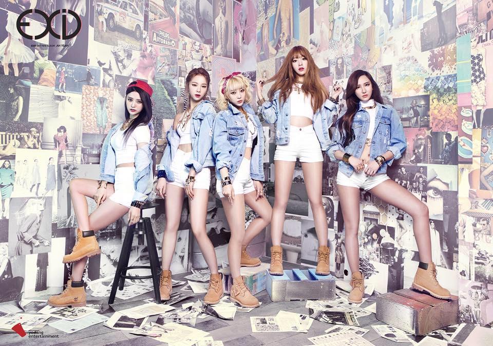 就是人氣女團EXID啊~~ EXID於本月20號發行了中文單曲《Cream》!!