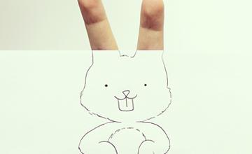 用手指畫畫不稀奇,手指就是畫才有趣!