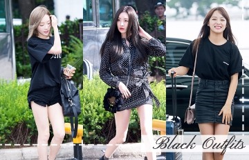視覺再瘦5公斤!變白又顯瘦的韓星「黑色穿搭」Get ✩