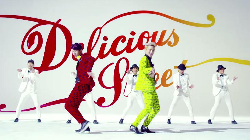 (2014年) 成員:INFINITE 優鉉、SHINee Key 代表作:Delicious