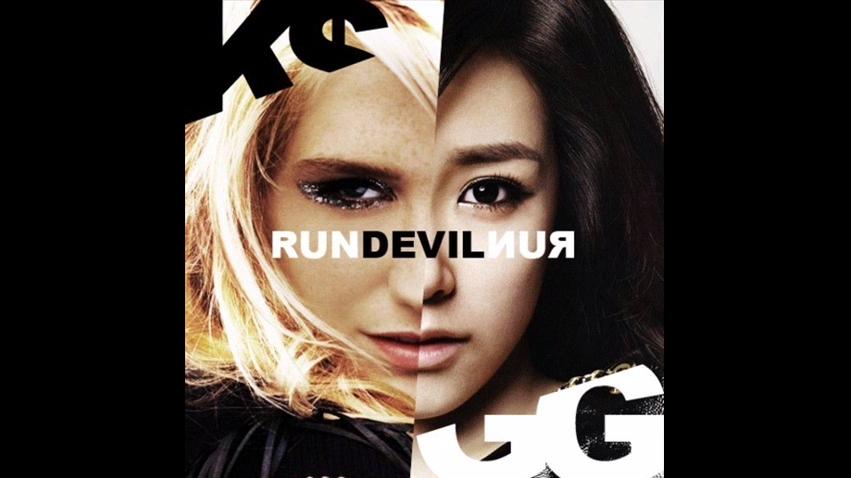 少女時代 - Run Devil Run 原唱Kesha  其實也不是說原演唱是給Kesha,因為Kesha只唱了導唱後就沒有發行,後來SM娛樂買了這首歌給少女時代唱,影片左耳是少女時代版、右耳聲道是Kesha版本
