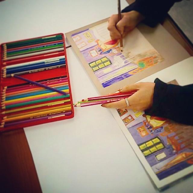 也就是藉由色鉛筆上色 聽說可以讓人感到平靜~