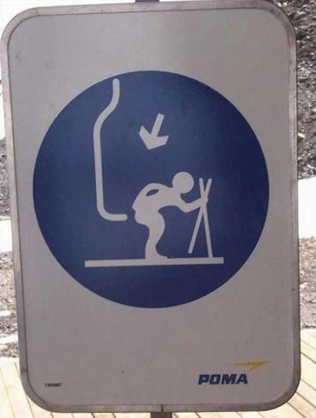 滑雪場的使用標示....