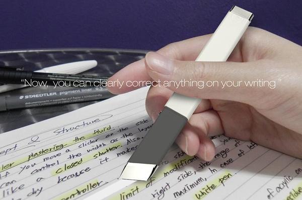 要帶筆又要帶修正帶好麻煩 如果能夠只帶一支,卻有兩種功能呢?