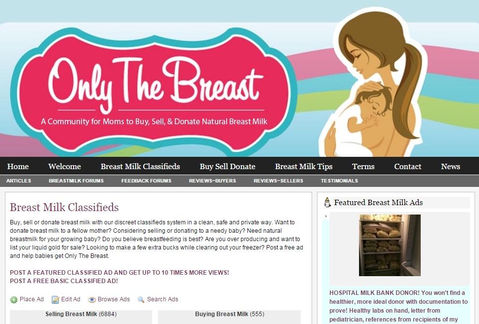 國外更有買賣母乳或是捐贈母乳的專門網站 以交易母乳作為營利