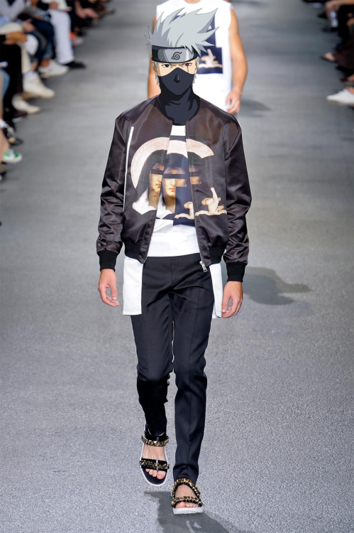 #卡卡西 in Givenchy  by Riccardo Tisci spring-summer 2013