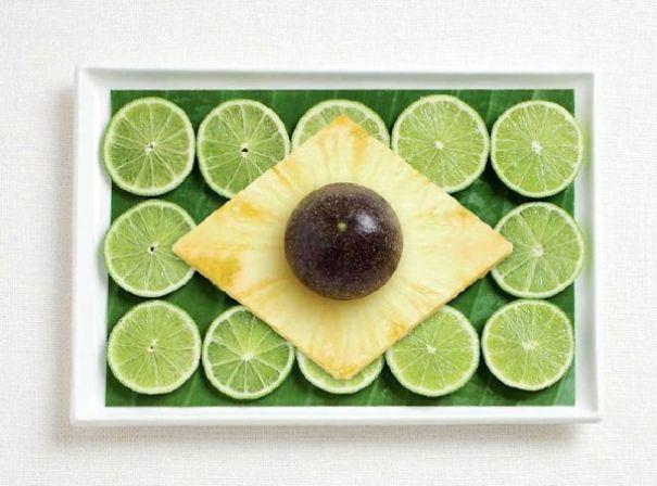 4. 巴西 - 香蕉樹葉、萊姆、鳳梨、百香果
