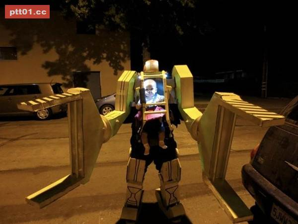 我也想要一個會做機器人的爸爸~~~