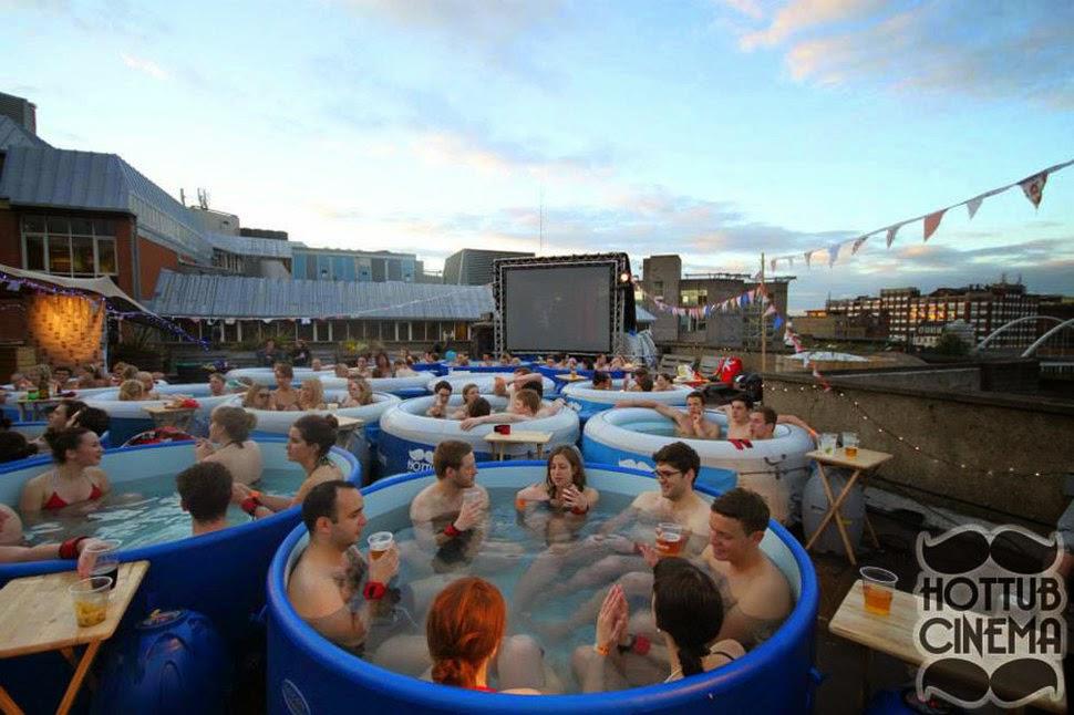 #4 英國倫敦 屋頂泡澡影院