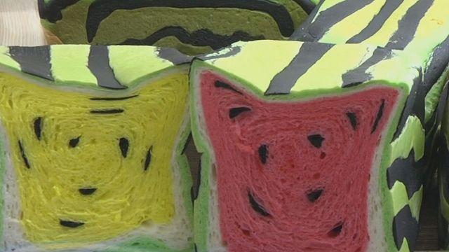 台灣宜蘭的店家賣一條只要80元台幣 而且還有小玉西瓜的顏色可以選擇
