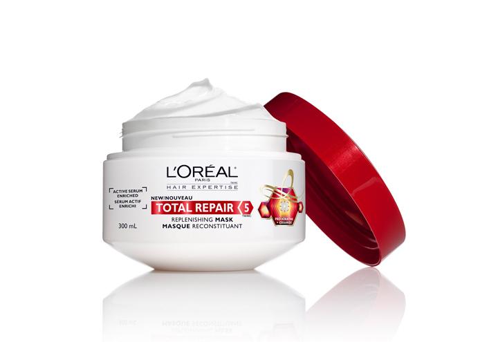TOTAL REPAIR 5 髮膜 (巴黎萊雅/ 200ml/ 約台幣不到300元) —— 著名的巴黎萊雅的小紅瓶, 因為效果不錯,在許多人回購名單都單上有名! 實惠的價錢、大容量、許多地方都容易購得,因此許多人都非常喜歡!