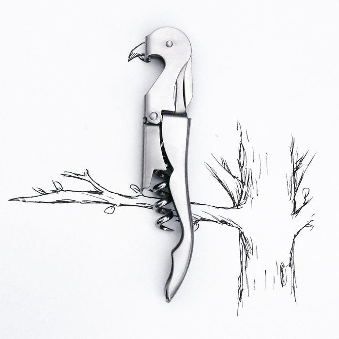 #廚房用具變鸚鵡