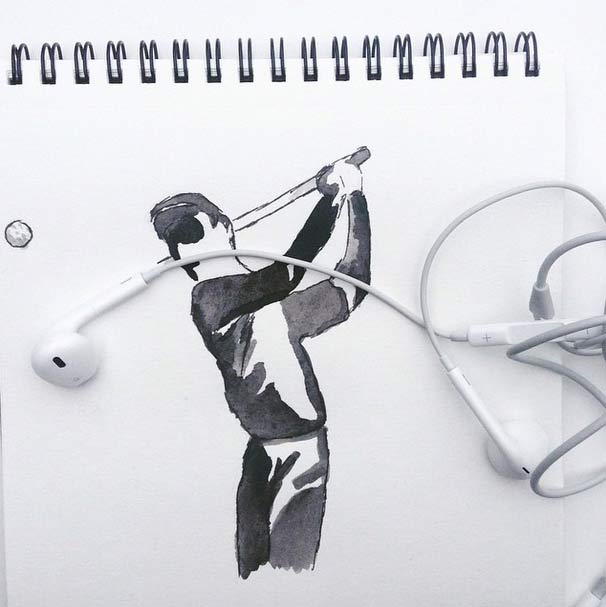 #看來是換新耳機了?耳機高爾夫
