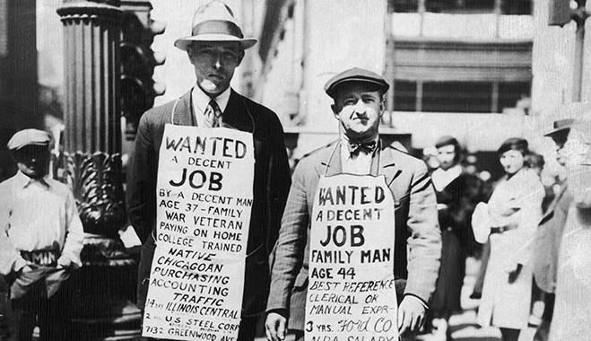 到了1933年,美國國內約有1600萬名的失業者, 超過美國全體勞動人口的四分之一, 每週平均有6萬4千名的失業者產生。