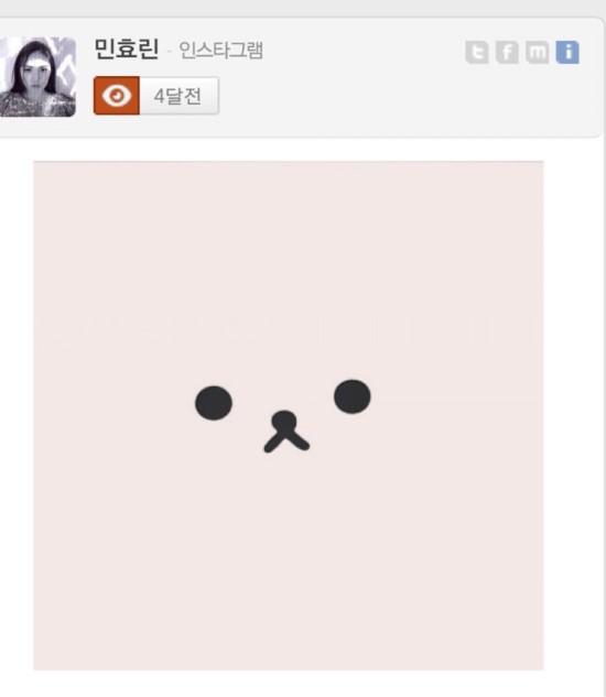 例如呼應太陽的歌曲《眼,鼻,口》 閔孝琳曾經在IG上傳這張照片