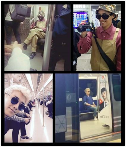 不久之前~BIGBANG的GD跟勝利 才被拍到搭捷運去機場~ 除了讓人覺得扼腕怎麼沒遇到之外 應該會覺得大明星也沒有架子吧???  其實很多大明星都被拍過搭大眾交通工具出門唷~