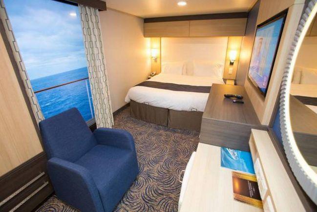 這艘郵輪上,總共有2090個客房, 房間的設施都跟大飯店媲美呢!