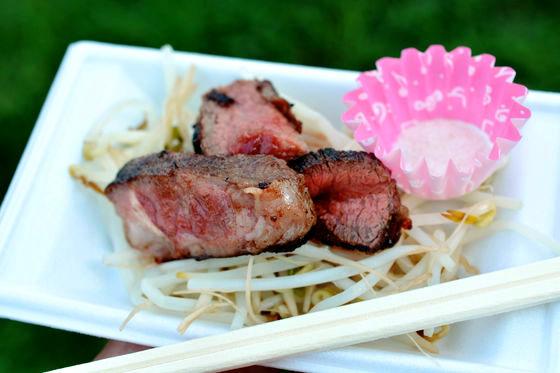 還有這個! 原價800日幣,做活動特別特價500日幣的牛排♥