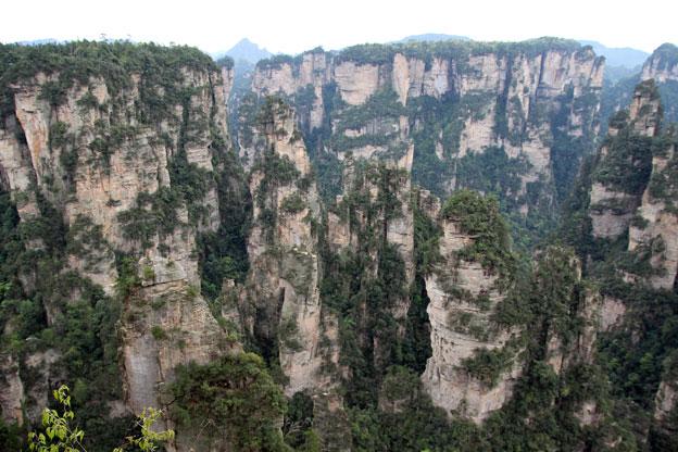 位於中國湖南省的張家界國家森林公園!