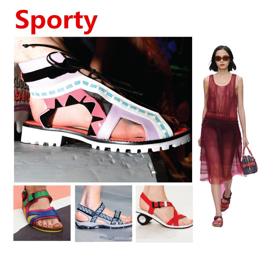 ✓ 運動款(Sporty)  今年夏天最受矚目的運動風涼鞋! 輕便,色彩豐富,造型多樣化! Burberry Porosum、Marni等知名海外品牌, 也出了許多運動風涼鞋呢!
