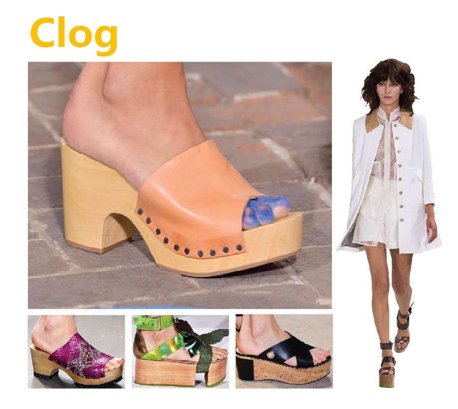 ✓ 木根款(Clog)  像木屐一樣,用原木頭做的鞋底,或是木頭紋路的這種鞋子, 它有個統一的名字,就叫做Clog!是今年的流行趨勢之一唷!