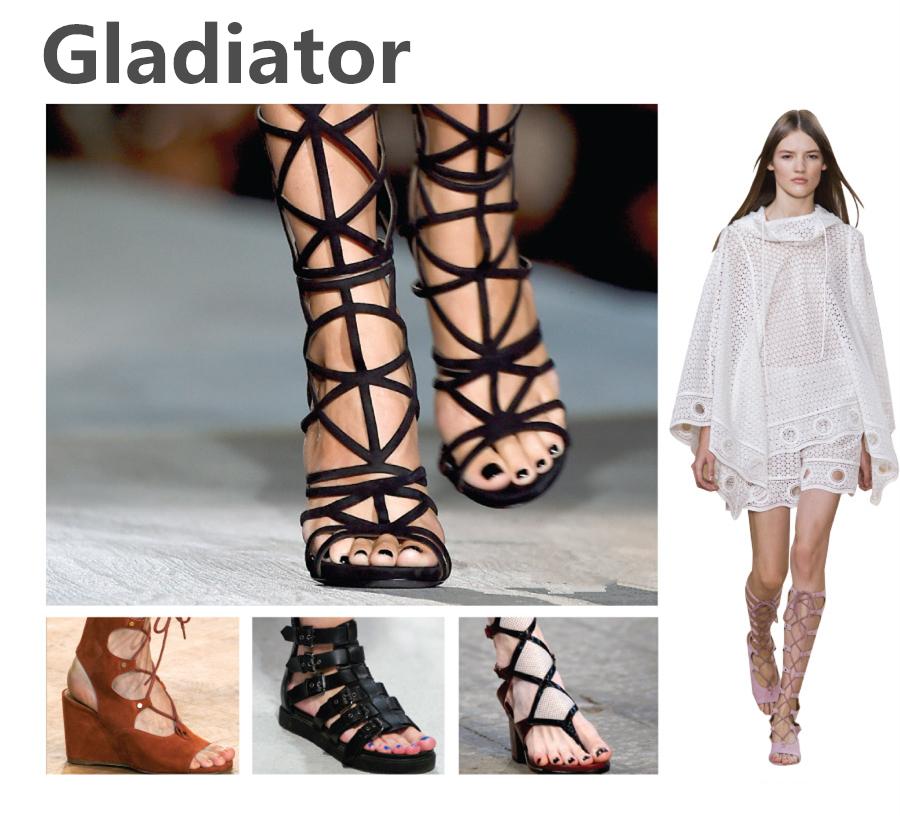 ✓ 羅馬款(Gladiator)  因為和羅馬時代戰士們穿的鞋子很相似,因此稱為羅馬鞋! 以皮繩環繞腳踝的設計纏繞整個小腿部分, 雖然很多男性們都表示這款鞋很不討喜, 可是羅馬鞋卻依舊受到許多女性們的喜愛喲!
