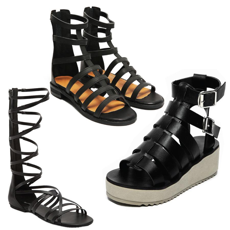 一般羅馬鞋都以平底為主設計! 不過,個子嬌小的朋友們有福摟! 今夏流行「厚底」,當然羅馬鞋也不會錯過厚底啊!!!