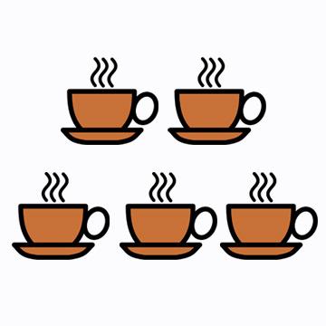 1周平均喝12.3次 也就是1天喝1.8回 每個人人手一杯咖啡是常態呢!
