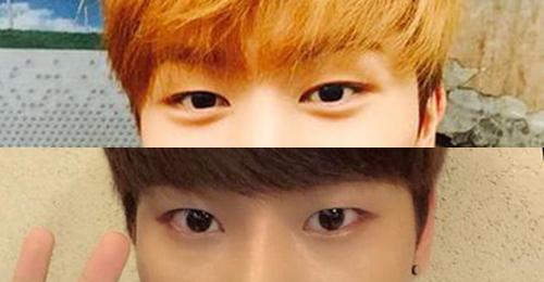 (上圖)陸星材/(下圖)N~   有內雙,眼睛更長一點的是陸星材! 眼睛圓弧一點的是N!