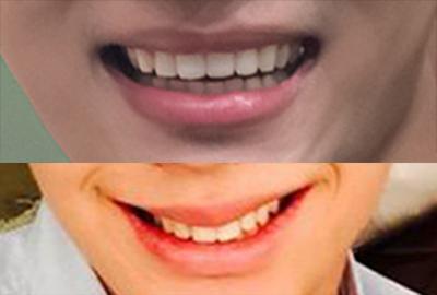 (上圖)N/(下圖)陸星材~  很爽朗的笑容是陸星材! N的笑容相反的就比較靦腆摟~ (陸阿星的笑容像這樣)➜ㅡ▽ㅡ ....XDDD)