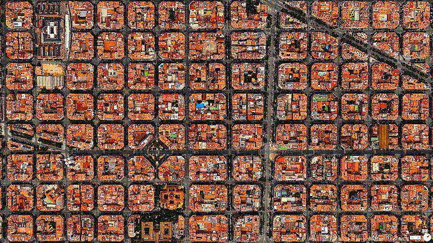 如果從高空直拍下來,我們居住的城市又會是什麼樣的風貌呢?