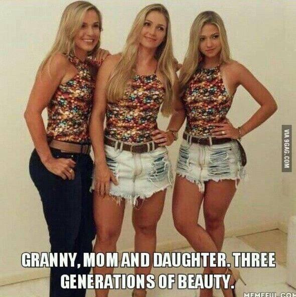 一件衣服3個世代穿竟然無違和 奶奶、媽媽、女兒