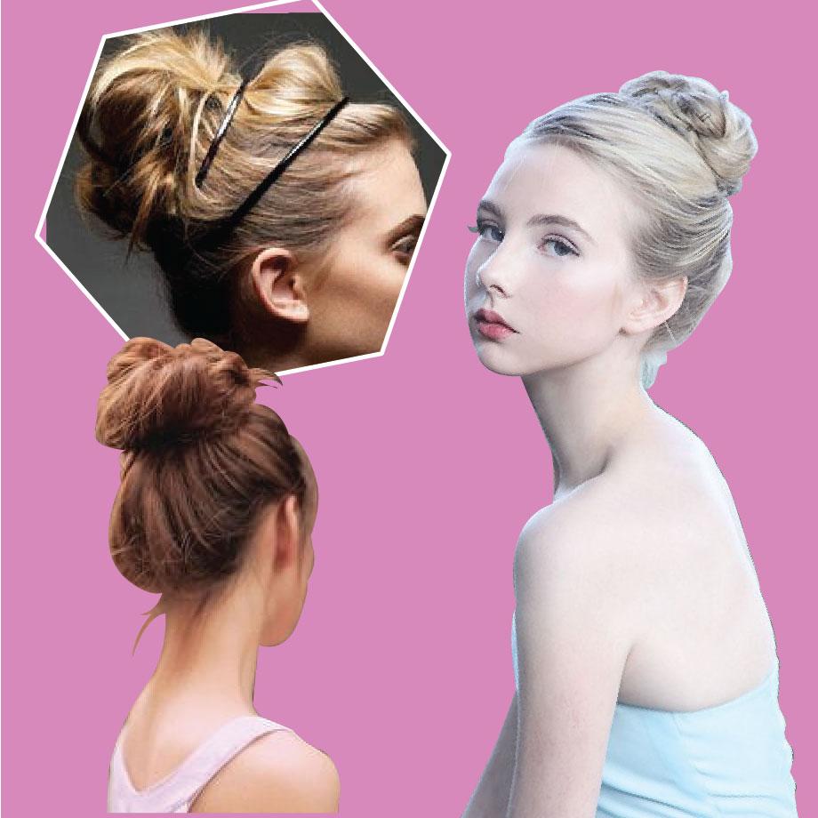 丸子頭種類繁多,大多是在馬尾的基礎上,把頭髮擰成一股、盤成一個圓盤, 當然還可以適當的加一些小飾品。