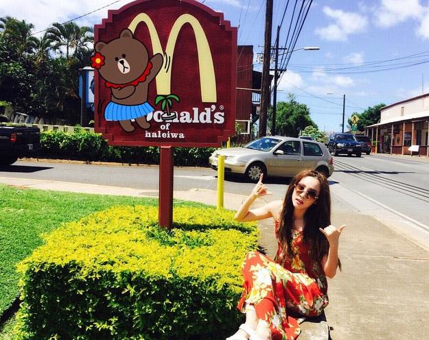 夏威夷是美國屬地~就算從小到大都吃麥當當~還是要在美國吃最道地的美式速食口味~